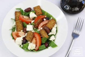 Crispy Fried Tempeh Salad | DMP
