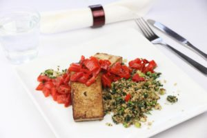 Tofu Steaks and Red Pepper Salsa | DMP