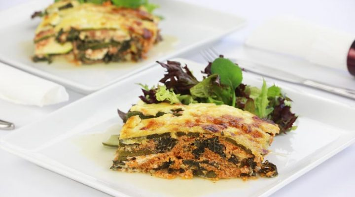 Low Carb Spinach Cheese Lasagna | DMP