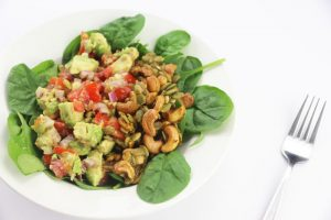 Avocado Salsa w/ Spicy Cashew Crunch