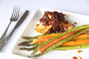 Caramelized Tofu w/ Roast Carrot & Asparagus | DMP