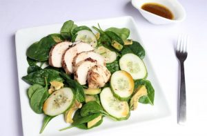 Parcel Baked Chicken w/ Avocado and Cucumber Salad | ©DMP