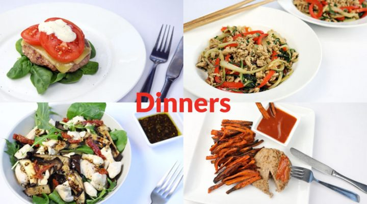 Featured diabetic meal plan dinners: Week of 8-24-20