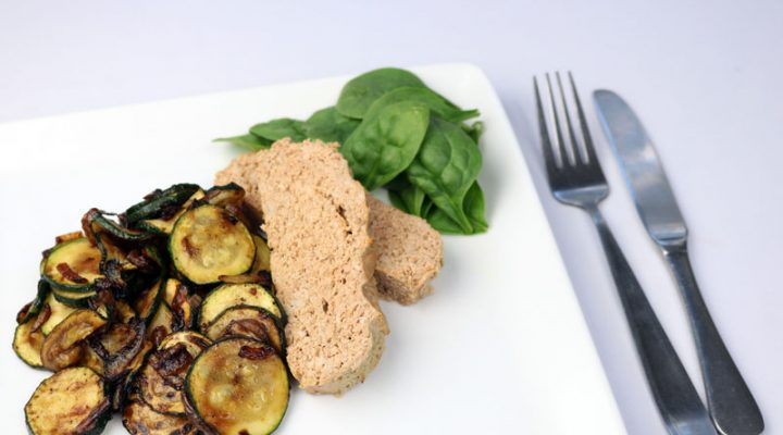 Turkey Meatloaf with Pan Roasted Zucchini and Onion | ©DMP